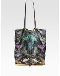 McQ by Alexander McQueen Black Bird Nylon Leather Package Tote Bag - Lyst