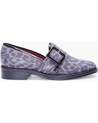Opening Ceremony Charcoal Leopard Printed Loafer animal - Lyst
