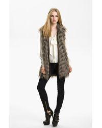 Rachel Zoe Marianne Ii Faux Fur Vest - Lyst