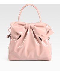 Valentino Lacca Bow Dome Bag - Lyst