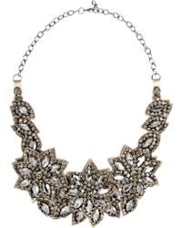 Valentino Floral Glass Crystal Necklace - Lyst