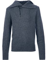 Givenchy Rear Zip Fastening Jumper - Grey
