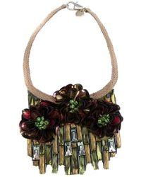 Matthew Williamson Flower Necklace gold - Lyst