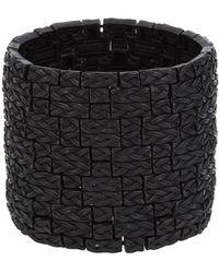 Philippe Audibert Basket Weave Bracelet black - Lyst