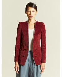Kolor Kolor Womens Corduroy Jacket - Purple