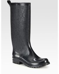 Marc By Marc Jacobs Logoembossed Rain Boots - Black