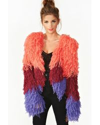 Nasty Gal Fuse Shag Jacket Ombre - Lyst