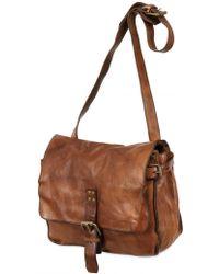 Officine Creative Vintage Leather Messenger Bag - Brown