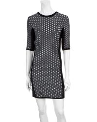 Rag & Bone Datia Paneled Knitted Jersey Dress gray - Lyst