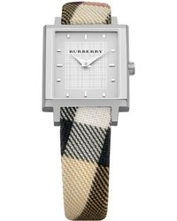 Burberry Womens Swiss Check Strap - Lyst