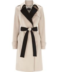Coast Elaine Trench Coat beige - Lyst
