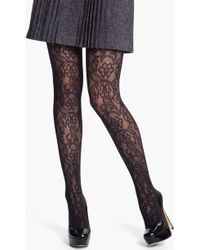 DKNY Lace Net Tights - Lyst