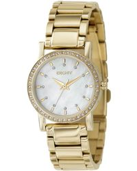 DKNY Womens Goldtone Ion Plated Stainless Steel Bracelet - Lyst
