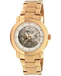 Kenneth Cole Women'S Automatic Rose Gold Plated Stainless Steel Bracelet Kc4758 - Lyst