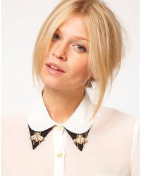 ASOS Bee Collar Brooches - Metallic