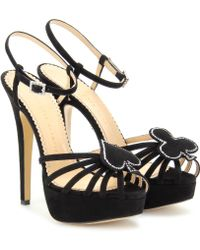 Charlotte Olympia Black Jack Platform Sandals - Lyst