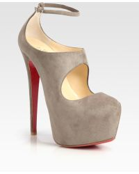 Christian Louboutin Maillot Suede Mary Jane Platform Pumps - Lyst