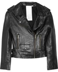 Oak Leather Biker Jacket - Lyst