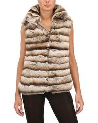 Vicedomini - Rex Rabbit and Cashmere Knit Fur Vest - Lyst