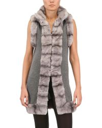 Vicedomini - Rex Rabbit and Cashmere Knit Long Vest - Lyst