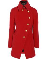 Vivienne Westwood Anglomania Rac Wool-Blend Coat red - Lyst