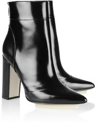 3.1 Phillip Lim Peggy Glossedleather Ankle Boots black - Lyst