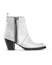 Acne Studios Pistol Leather Ankle Boots - White