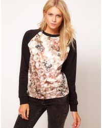 ASOS - Asos Sweatshirt with Pearl Diamond Print - Lyst
