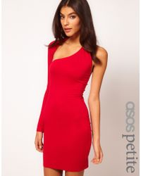 Asos Bodycon Dress with One Sleeve - Lyst