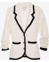 Autumn Cashmere - Exclusive Cable Knit Blazer - Lyst