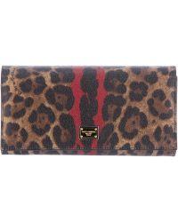 Dolce & Gabbana Leopard Print Wallet - Lyst