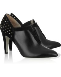 Jason Wu - Qing Leather and Studded Suede Ankle Boots - Lyst