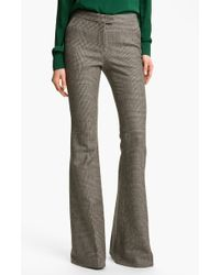 Rachel Zoe Hutton Houndstooth Check Flare Leg Pants - Lyst