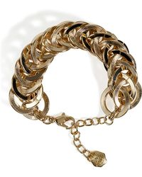 R.j. Graziano - Goldtoned Circle Linked Bracelet - Lyst