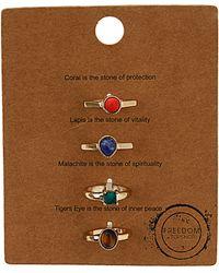 TOPSHOP - Semi Precious Ring Message Set - Lyst