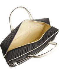 Valextra Stitched Logo Zip Around Briefcase - Black