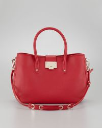 Jimmy Choo Rania Grainy Leather Tote Red - Lyst