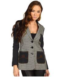 Love Moschino Pied De Puol Dyed Yarn Jacket - Lyst