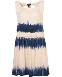 TOPSHOP Blue Tie Dye Cage Cover Up - Pink