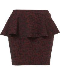 Topshop Cross Textured Peplum Skirt - Lyst