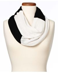 Ann Taylor Colorblock Infinity Scarf white - Lyst