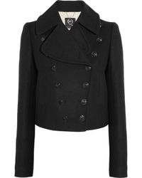 McQ by Alexander McQueen Doublebreasted Woolblend Coat - Lyst