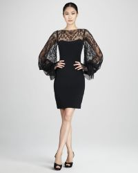 Notte by Marchesa Lace Overlay Bateau Cocktail Dress - Lyst