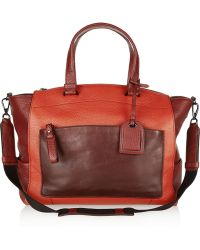 Reed Krakoff Uniform Colorblock Textured Leather Tote red - Lyst