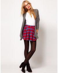 ASOS Collection  Skater Skirt in Tartan - Lyst