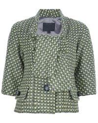 Marc Jacobs Woven Jacket green - Lyst