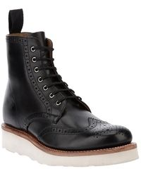 Foot The Coacher - Two Tone Brogue Boot - Lyst