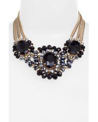 Cara Accessories Cara Multi Stone Statement Necklace black - Lyst