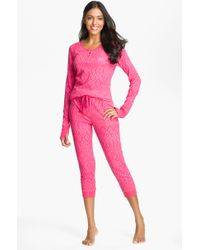 Steve Madden   Thermal Knit Pyjamas   Lyst