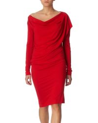 Vivienne Westwood Anglomania Toga Draped Dress - Lyst